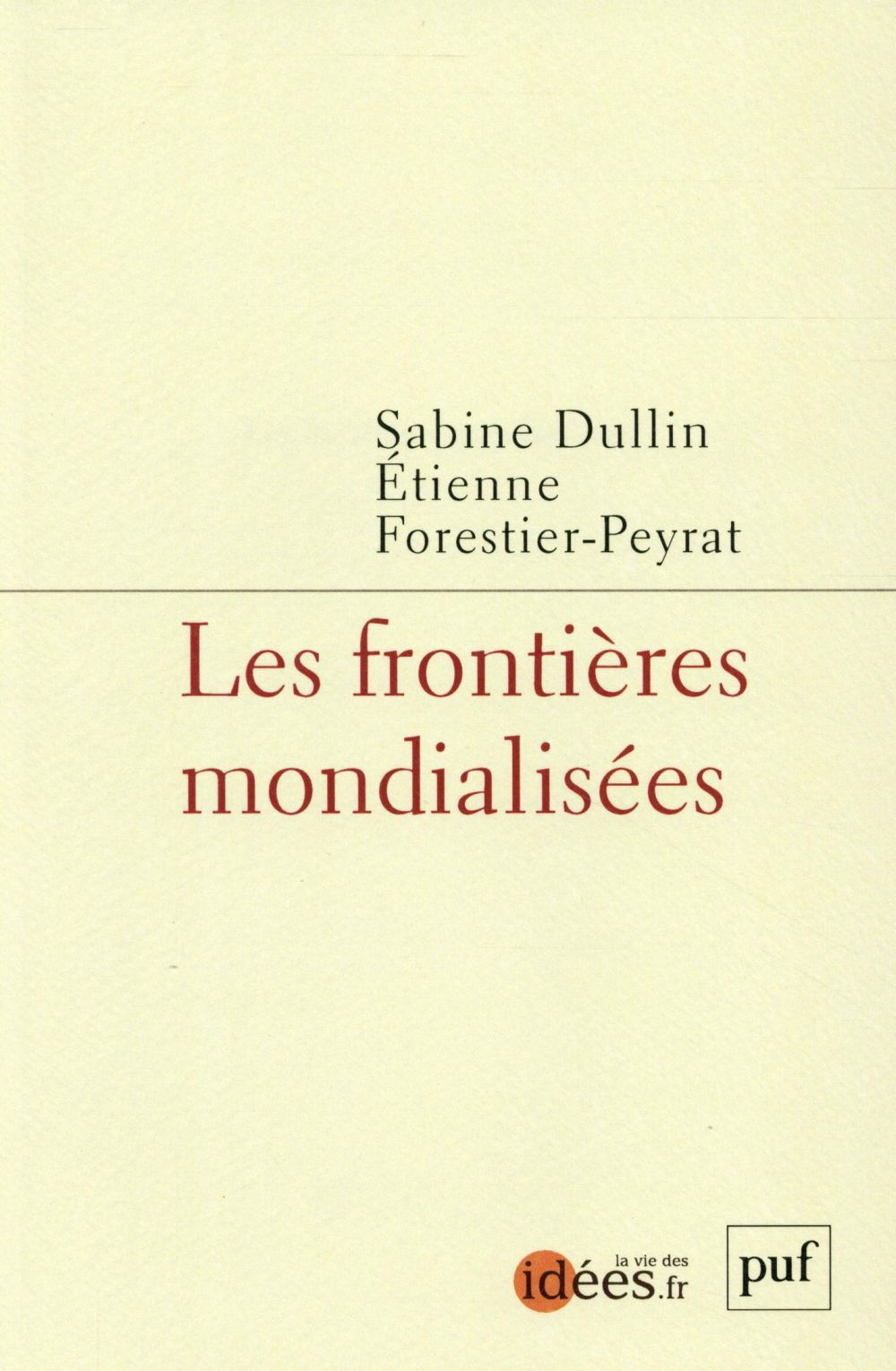 LES FRONTIERES MONDIALISEES